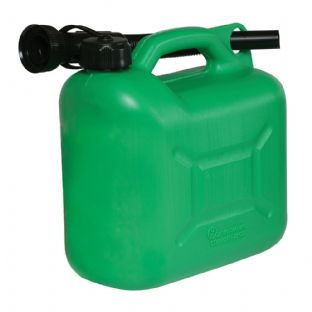 Silverline 847074 5ltr Plastic Fuel Can (Green)